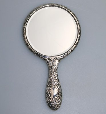 Antique hand mirror Fancy Vintage Solid Silver Hand Mirror 1963 Flickr Vintage Solid Silver Hand Mirror 1963 For Sale At Pamono