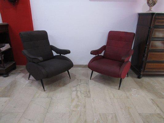 12ef7e670f Poltrone reclinabili Oscar vintage di Ello Pini per Novarredo, anni '50,  set di