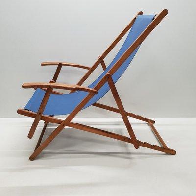 Sedie Pieghevoli Legno Con Braccioli.Sedie Da Spiaggia Vintage Pieghevoli In Legno Con Braccioli Anni