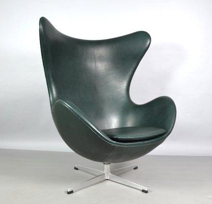 Egg Chair Aus Leder Von Arne Jacobsen Fur Fritz Hansen 1970er Bei