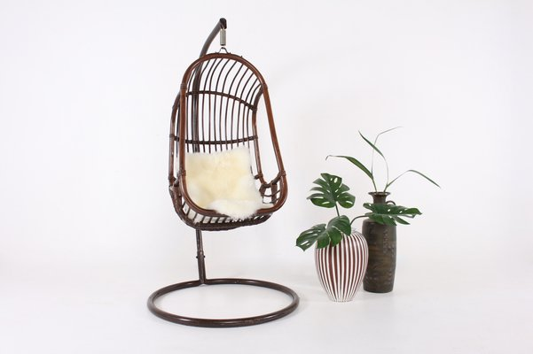 Pleasing Bamboo Rattan Egg Chair 1970S Pabps2019 Chair Design Images Pabps2019Com