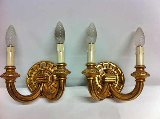 Antique Wall Lights Set Of 2 For