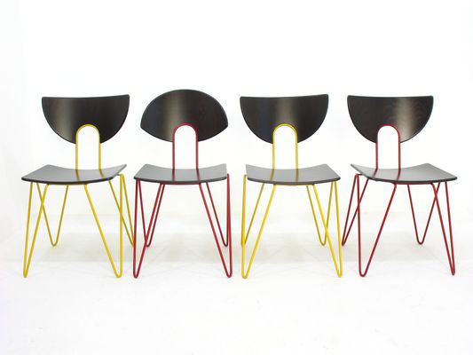 Vintage Beistellstühle von Walter Leeman für Kusch+Co, 4er Set