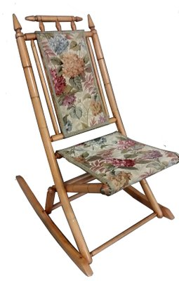 Vintage Faux Bamboo Folding Rocking Chair 1930s 1  sc 1 st  Pamono & Vintage Faux Bamboo Folding Rocking Chair 1930s for sale at Pamono