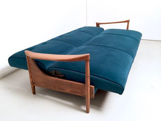 divano letto vintage in velluto di greaves & thomas in vendita su pamono