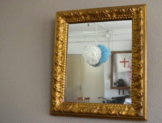 Antiker Spiegel Mit Goldrahmen Bei Pamono Kaufen