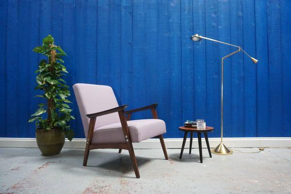 daebc86c80b76 Mid-Century Purple Easy Chair, 1960s for sale at Pamono