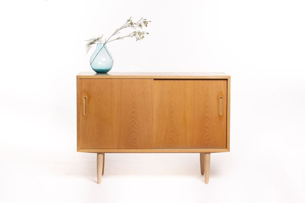 Mid Century Oak Sideboard By Carlo Jensen For Hundevad Co 1960s