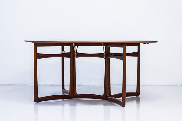 Marvelous Drop Leaf Dining Table By Hvidt Molgaard For France Son Gmtry Best Dining Table And Chair Ideas Images Gmtryco