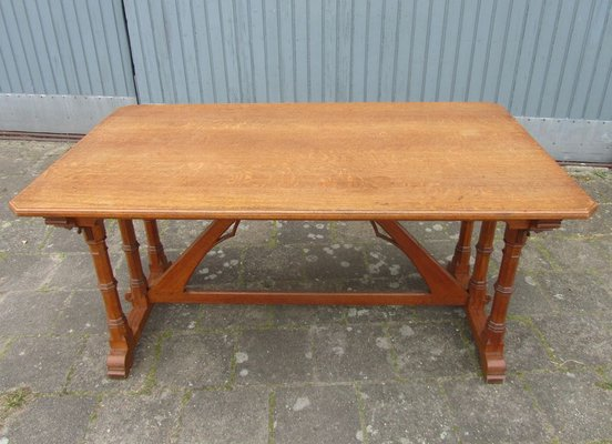 Fantastic Gothic Revival Library Table In Oak Gmtry Best Dining Table And Chair Ideas Images Gmtryco