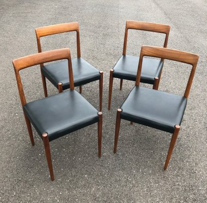 Vintage Rosewood Chairs From Lübke, Set Of 4 1