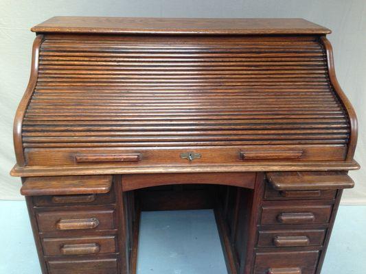 Antique Roll Top Desk 2 - Antique Roll Top Desk For Sale At Pamono