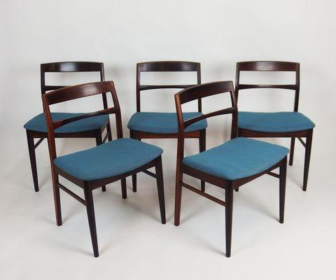 Etonnant Vintage Scandinavian Rosewood Chairs, Set Of 5 2