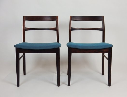 Vintage Scandinavian Rosewood Chairs, Set Of 5 1