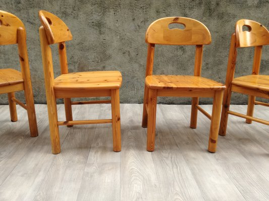 Delicieux Solid Pine Dining Chairs By Rainer Daumiller, 1960s, Set Of 4