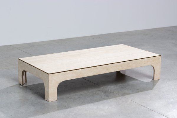Willy Rizzo Coffee Table.Travertine Coffee Table By Willy Rizzo 1970s