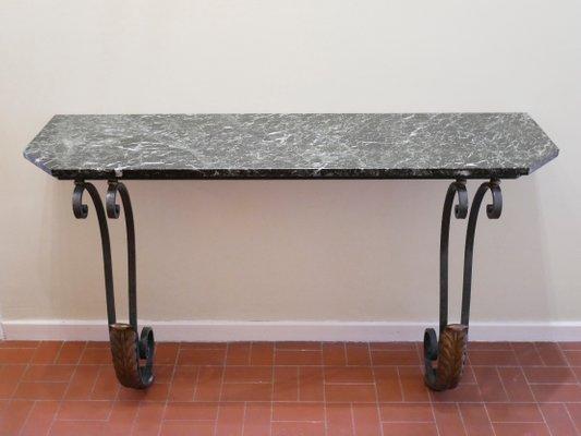 Credenzas Modernas Para Recibidor : Consola de recibidor mármol y hierro forjado años 40 en venta