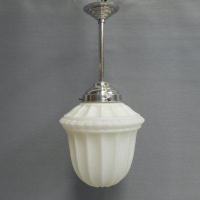 Art Deco Deckenlampe aus Glas, 1930er bei Pamono kaufen