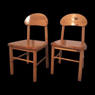 Pair Of Early 20th Century Swedish Pine Childrens Chairs Catalogues Will Be Sent Upon Request Antique Furniture