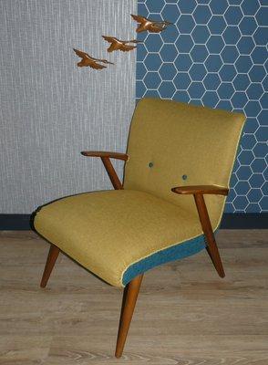 Vintage Sessel In Gelb Blau 1960er Bei Pamono Kaufen