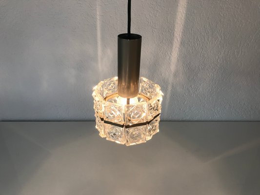 Vintage Deckenlampe aus Kristallglas von Sölken Leuchten, 1960er