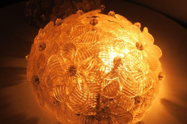 Vaso mille fiori in vetro di murano con decorazioni murrine anni