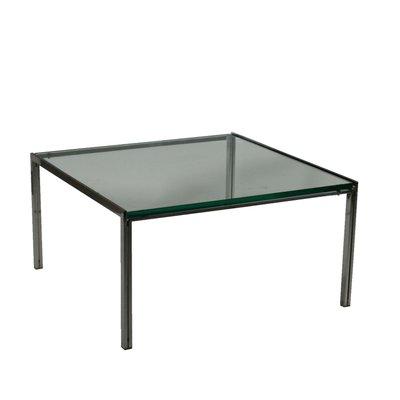Tavolino da caffè in vetro e acciaio di Ross Littell per ICF de Padova,  anni \'60