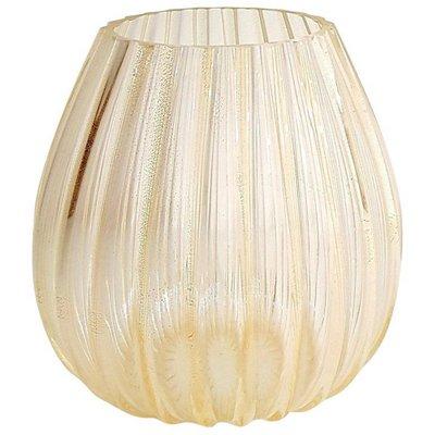 de oro de de Murano quilates cristal Murrina grande vintage de Jarrón 24 bañado La en D9WEHI2