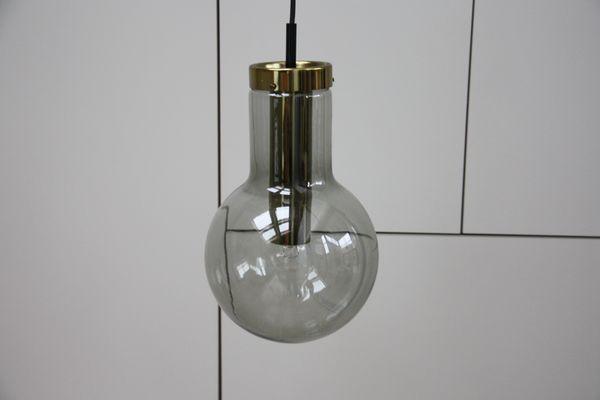 Illuminazione Vintage Per Interni : Lampada vintage in vetro fumé di frank ligtelijn per raak anni