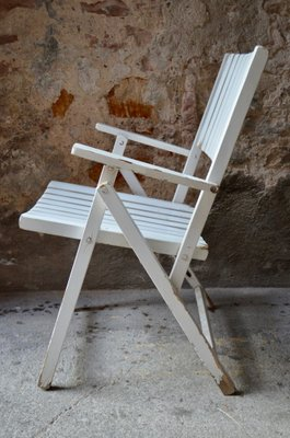 Vintage Wooden Garden Armchairs Set Of 4 For Sale At Pamono