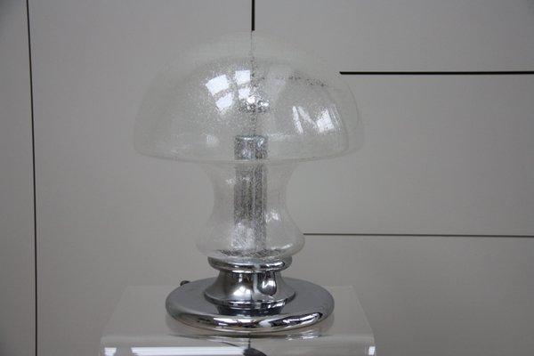 Vintage Bubble Glass Mushroom Table Lamp From Doria Leuchten 1970s