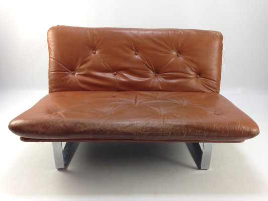 Vintage Leather Sofa By Kho Liang Ie For Artifort 1960s For Sale At