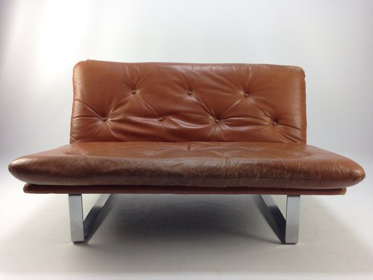 Vintage Leather Sofa By Kho Liang Ie