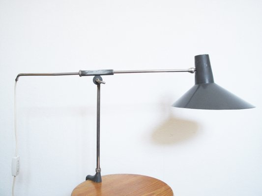 Attirant Industrial Clamp Desk Lamp, 1960s 2