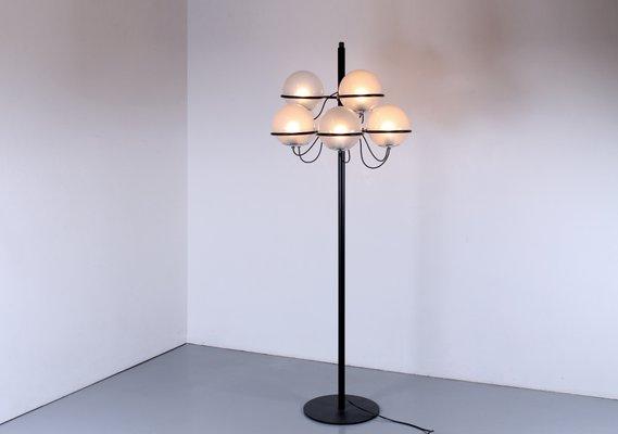 c326b2f35a31 Italian Black 1094 Floor Lamp by Gino Sarfatti for Arteluce