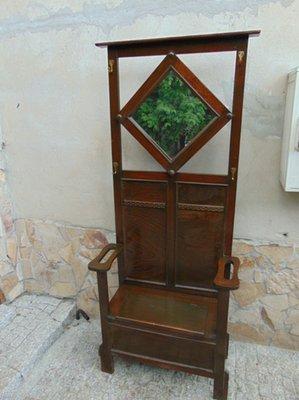Attaccapanni Per Ingresso.Sedia Da Ingresso Art Nouveau Con Ganci Attaccapanni E Specchio