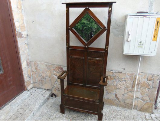 Attaccapanni Da Ingresso.Sedia Da Ingresso Art Nouveau Con Ganci Attaccapanni E Specchio