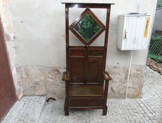 Ingresso Attaccapanni.Sedia Da Ingresso Art Nouveau Con Ganci Attaccapanni E Specchio