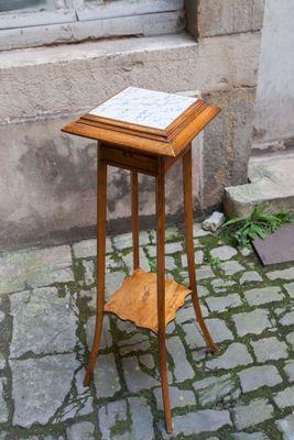 Table D Appoint Vintage En Bois Et Ceramique En Vente Sur Pamono