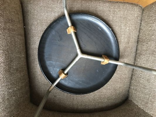Sgabello vintage di arne jacobsen per fritz hansen anni 60 in