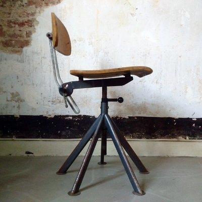 Chaise De Bureau Industrielle De Odelberg Olson 1930s