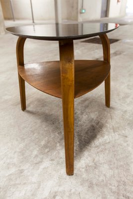 Bow Wood Coffee Table By Hugues Steiner For Baumann 1960s For Sale At Pamono