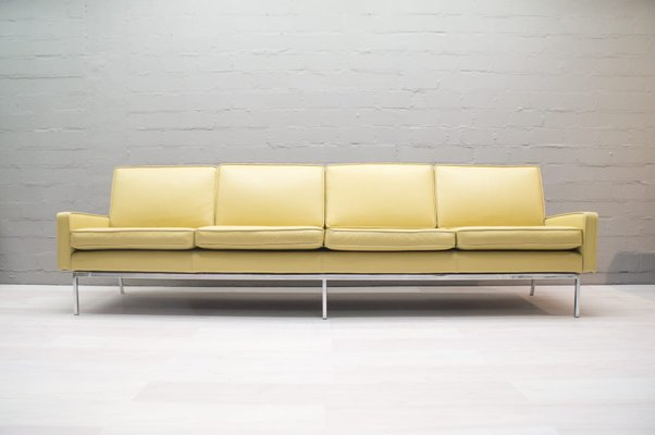 2ee94e09fe651a Leather 4-Seater Sofa by Florence Knoll for Knoll International, 1960 1