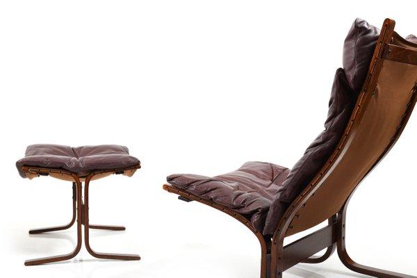 Strange Vintage 2 Highback Lounge Chairs Ottoman By Ingmar Relling For Westnofa Short Links Chair Design For Home Short Linksinfo