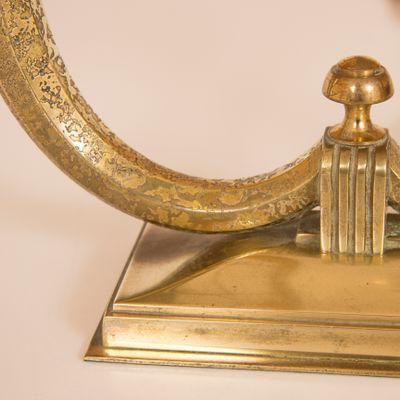 Gilt Bronze Lamps from Genet et Michon, 1930s, Set of 2