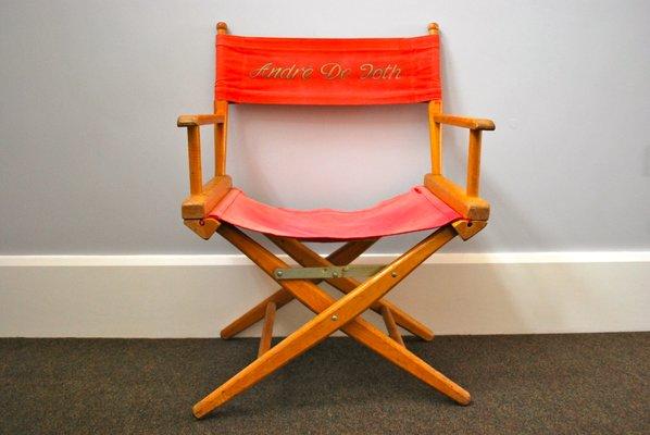 Sedia da regista vintage di andree de toth anni 50 in vendita su
