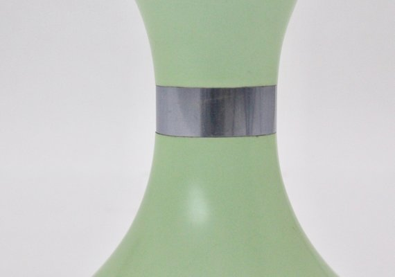 Sgabello senna vintage in plastica verde menta di carrara matta