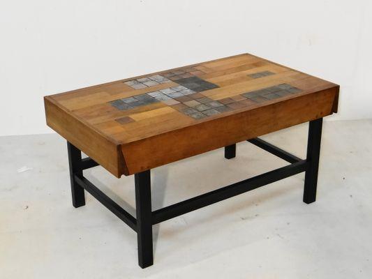 Tavolino vintage con piastrelle in ceramica di perignem in vendita