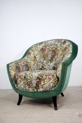 Awesome Italian Floral Lounge Chair 1950S Squirreltailoven Fun Painted Chair Ideas Images Squirreltailovenorg