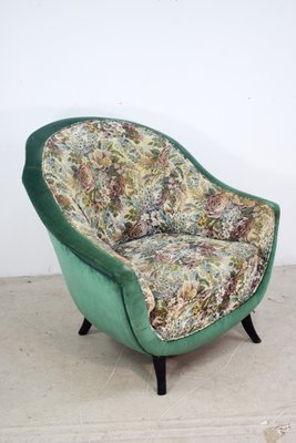 Miraculous Italian Floral Lounge Chair 1950S Squirreltailoven Fun Painted Chair Ideas Images Squirreltailovenorg